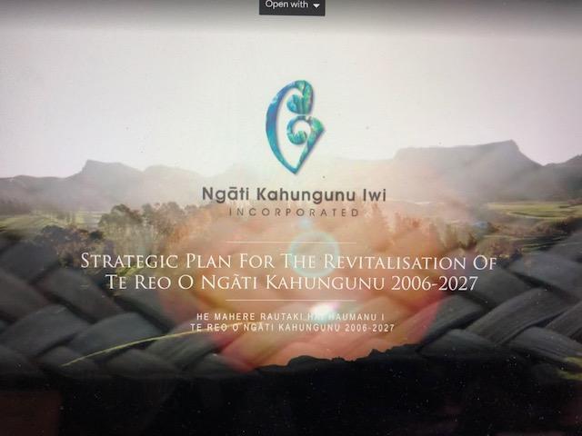 HeMahere Rautaki Hai Haimanu i te reo o Ngati Kahungunu 2006-2027